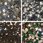 Square Resin Rhinestones