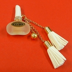 Parfum Bottle With Rhinestones Accents And Tassel Embellishment