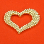 Heart With Pearls Accents Embellishment