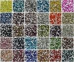 DMC Silver Foiled Crystal Glass Rhinestones Non Hot Fix ss6 Size