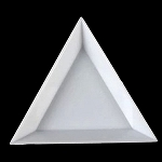 10 White Triangular Rhinestone Sorting Trays