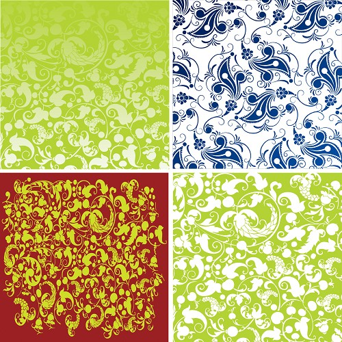 "FOUR 12"" X 12"" BLINGGASM ADHESIVE VINYL OR HEAT TRANSFER SHEETS SET, PAISLEY, FLOWERS, PATTERN OUTDOOR VINYL 017"