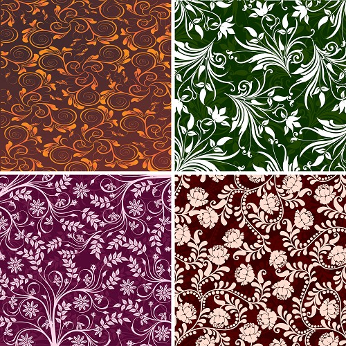 "FOUR 12"" X 12"" BLINGGASM ADHESIVE VINYL OR HEAT TRANSFER SHEETS SET, PAISLEY, FLOWERS, PATTERN OUTDOOR VINYL 026"