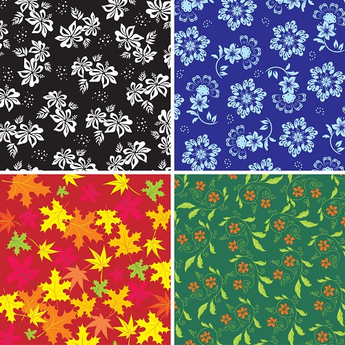"FOUR 12"" X 12"" BLINGGASM ADHESIVE VINYL OR HEAT TRANSFER SHEETS SET, PAISLEY, FLOWERS, PATTERN OUTDOOR VINYL 028"