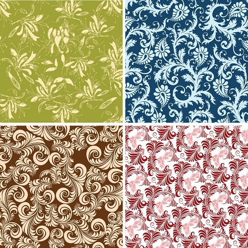 "FOUR 12"" X 12"" BLINGGASM ADHESIVE VINYL OR HEAT TRANSFER SHEETS SET, PAISLEY, FLOWERS, PATTERN OUTDOOR VINYL 036"