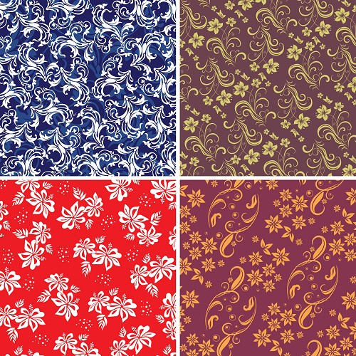 "FOUR 12"" X 12"" BLINGGASM ADHESIVE VINYL OR HEAT TRANSFER SHEETS SET, PAISLEY, FLOWERS, PATTERN OUTDOOR VINYL 037"
