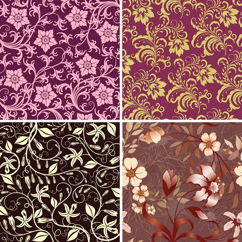 "FOUR 12"" X 12"" BLINGGASM ADHESIVE VINYL OR HEAT TRANSFER SHEETS SET, PAISLEY, FLOWERS, PATTERN OUTDOOR VINYL 040"