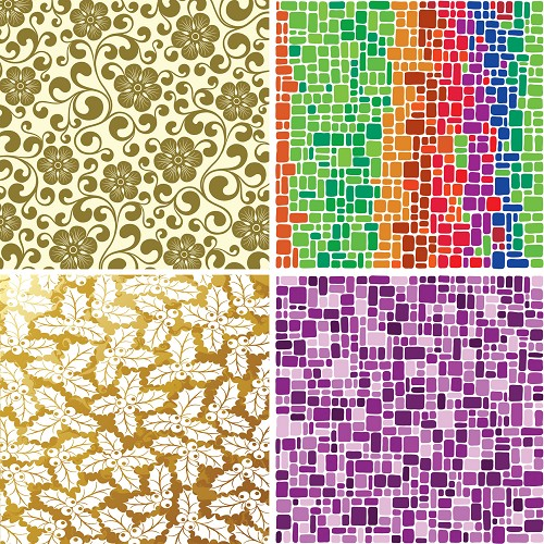 "FOUR 12"" X 12"" BLINGGASM ADHESIVE VINYL OR HEAT TRANSFER SHEETS SET, PAISLEY, FLOWERS, PATTERN OUTDOOR VINYL 043"