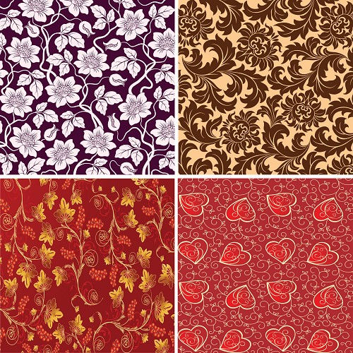"FOUR 12"" X 12"" BLINGGASM ADHESIVE VINYL OR HEAT TRANSFER SHEETS SET, PAISLEY, FLOWERS, PATTERN OUTDOOR VINYL 045"
