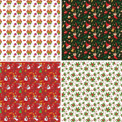 "FOUR 12"" X 12"" BLINGGASM ADHESIVE VINYL OR HEAT TRANSFER SHEETS SET, PAISLEY, FLOWERS, PATTERN OUTDOOR VINYL 055"