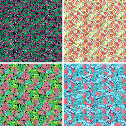 "FOUR 12"" X 12"" BLINGGASM ADHESIVE VINYL OR HEAT TRANSFER SHEETS SET, LP INSPIRED, PAISLEY, FLOWERS, PATTERN OUTDOOR VINYL 063"