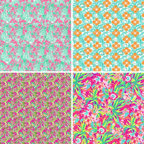 "FOUR 12"" X 12"" BLINGGASM ADHESIVE VINYL OR HEAT TRANSFER SHEETS SET, LP INSPIRED, PAISLEY, FLOWERS, PATTERN OUTDOOR VINYL 065"