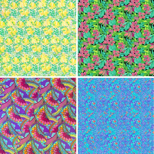 "FOUR 12"" X 12"" BLINGGASM ADHESIVE VINYL OR HEAT TRANSFER SHEETS SET, LP INSPIRED, PAISLEY, FLOWERS, PATTERN OUTDOOR VINYL 069"