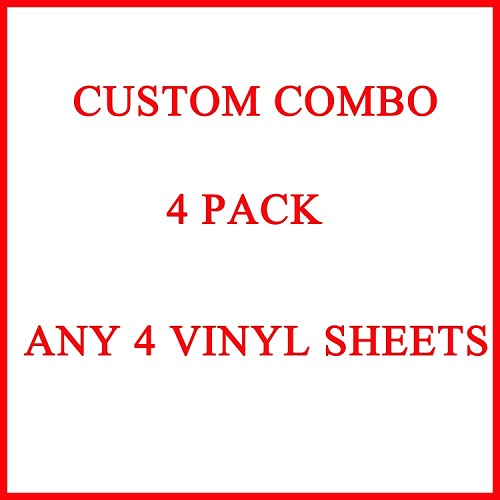 "YOUR CHOICE OF ANY FOUR 12"" X 12"" BLINGGASM ADHESIVE VINYL OR HEAT TRANSFER SHEETS SET"