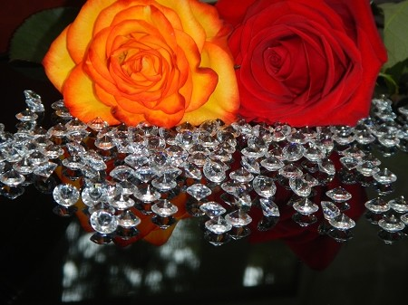 Wedding Table Scatter Crystal Diamonds Decoration 10mm - 4 CARAT