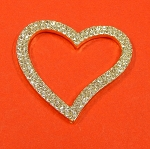 Heart Shape With Rhinestones Accents Embellishment