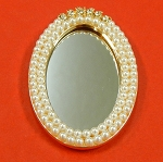 Rhinestones And Flat Back Pearls Mirror Embellishment