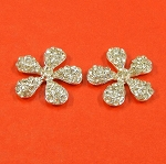 Two Rhinestones Flowers Embellishments