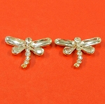 Set Of Two Butterflies With Rhinestones Accents  Embellishment