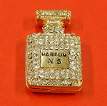 Chanel No5 Parfum Bottle With Rhinestones Accents Embellishment