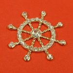 Rhinestones Ship Wheel Embellishment
