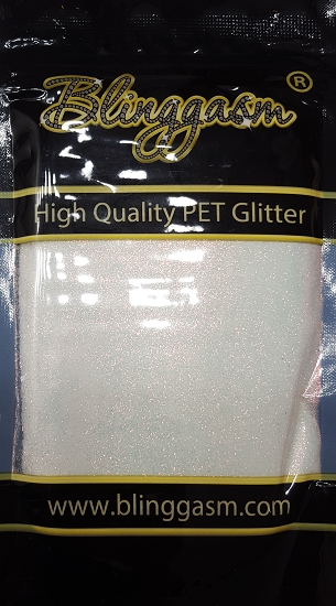 Fluorescent Solvent Resistant Blinggasm Polyester Glitter 3.5 oz By Weight .008 Or .015 Choose Size From Menu #1 FC321 PEARL