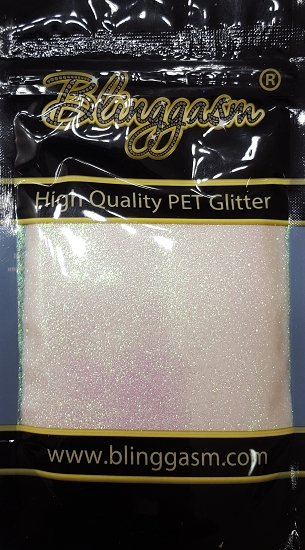 Fluorescent Solvent Resistant Blinggasm Polyester Glitter 3.5 oz By Weight .008 Or .015 Choose Size From Menu #2 FC322 MOTHER OF PEARLS