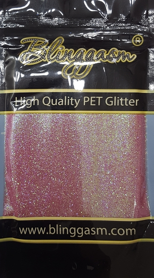 Fluorescent Solvent Resistant Blinggasm Polyester Glitter 3.5 oz By Weight .008 Or .015 Choose Size From Menu #11 FC346 MELLOW MAUVE