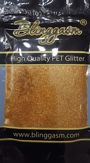 Holographic Solvent Resistant Blinggasm Polyester Glitter 3.5 oz By Weight .008 Or .015 Choose Size From Menu #4 LB201 RED GOLD
