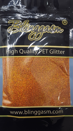 Holographic Solvent Resistant Blinggasm Polyester Glitter 3.5 oz By Weight .008 Or .015 Choose Size From Menu #9 LB401 BRONZE