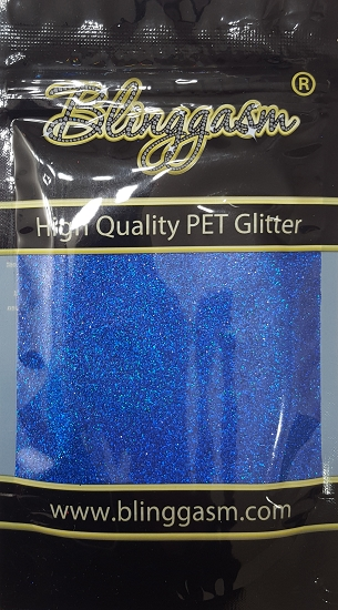 Holographic Solvent Resistant Blinggasm Polyester Glitter 3.5 oz By Weight .008 Or .015 Choose Size From Menu #16 LB705 ROYAL BLUE