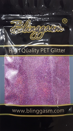 Holographic Solvent Resistant Blinggasm Polyester Glitter 3.5 oz By Weight .008 Or .015 Choose Size From Menu #20 LB901 PINK
