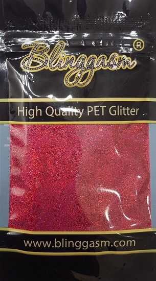 Holographic Solvent Resistant Blinggasm Polyester Glitter 3.5 oz By Weight .008 Or .015 Choose Size From Menu #23 LB912 MEI