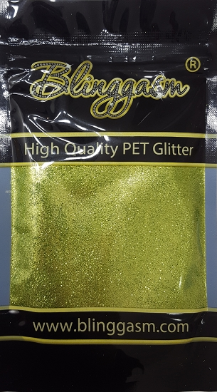 Metallic Solvent Resistant Blinggasm Polyester Glitter 3.5 oz By Weight .008 Or .015 Choose Size From Menu #35 B0617