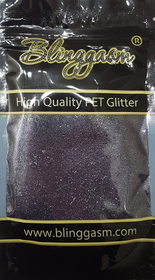 Metallic Solvent Resistant Blinggasm Polyester Glitter 3.5 oz By Weight .008 Or .015 Choose Size From Menu #59 B01001 BLUE BLACK