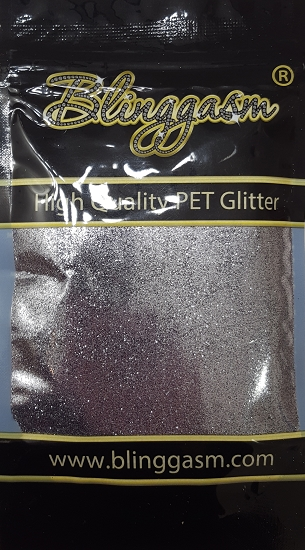 Metallic Solvent Resistant Blinggasm Polyester Glitter 3.5 oz By Weight .008 Or .015 Choose Size From Menu #60 B01002 HEMATITE