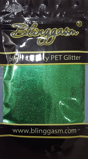 Metallic Solvent Resistant Blinggasm Polyester Glitter 3.5 oz By Weight .008 Or .015 Choose Size From Menu #30 B0602 MALACHITE GREEN