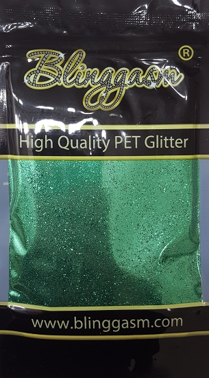 Metallic Solvent Resistant Blinggasm Polyester Glitter 3.5 oz By Weight .008 Or .015 Choose Size From Menu #33 B0610 FOREST GREEN
