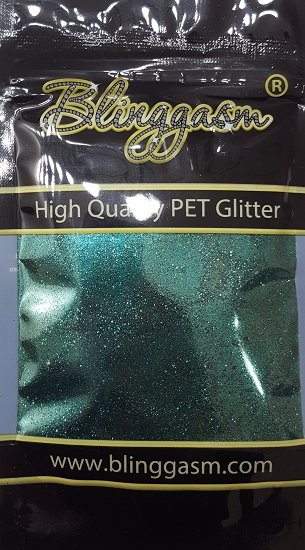 Metallic Solvent Resistant Blinggasm Polyester Glitter 3.5 oz By Weight .008 Or .015 Choose Size From Menu #36 B0620 EMERALD GREEN
