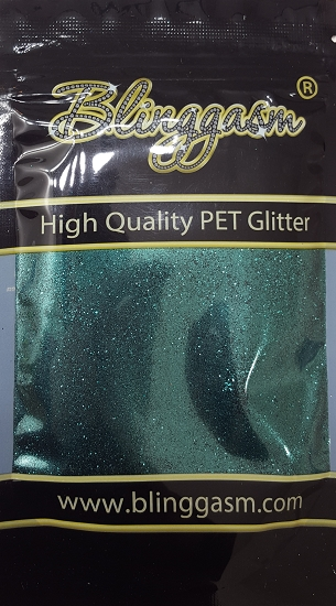 Metallic Solvent Resistant Blinggasm Polyester Glitter 3.5 oz By Weight .008 Or .015 Choose Size From Menu #38 B0622  DEEP SEA GREEN