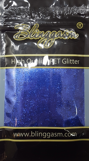 Metallic Solvent Resistant Blinggasm Polyester Glitter 3.5 oz By Weight .008 Or .015 Choose Size From Menu #41 B0704 BLUE DREAM