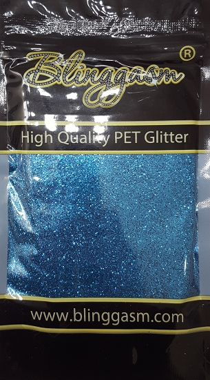 Metallic Solvent Resistant Blinggasm Polyester Glitter 3.5 oz By Weight .008 Or .015 Choose Size From Menu #43 B0706 LIGHT BLUE