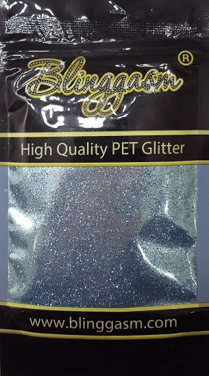 Metallic Solvent Resistant Blinggasm Polyester Glitter 3.5 oz By Weight .008 Or .015 Choose Size From Menu #45 B0710 SKY BLUE