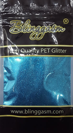Metallic Solvent Resistant Blinggasm Polyester Glitter 3.5 oz By Weight .008 Or .015 Choose Size From Menu #47 B0714 TURQUOISE