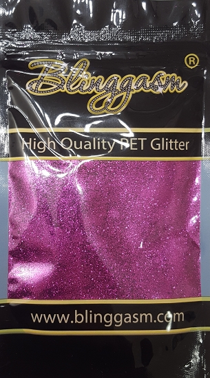 Metallic Solvent Resistant Blinggasm Polyester Glitter 3.5 oz By Weight .008 Or .015 Choose Size From Menu #49 B0800 PURPLE