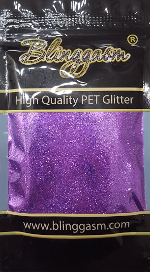 Metallic Solvent Resistant Blinggasm Polyester Glitter 3.5 oz By Weight .008 Or .015 Choose Size From Menu #51 B0808 VIOLET