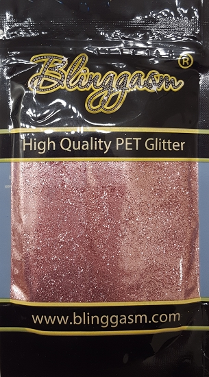 Metallic Solvent Resistant Blinggasm Polyester Glitter 3.5 oz By Weight .008 Or .015 Choose Size From Menu #53 B0900 ROSE GOLD