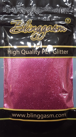 Metallic Solvent Resistant Blinggasm Polyester Glitter 3.5 oz By Weight .008 Or .015 Choose Size From Menu #57 B0913 MAUVE