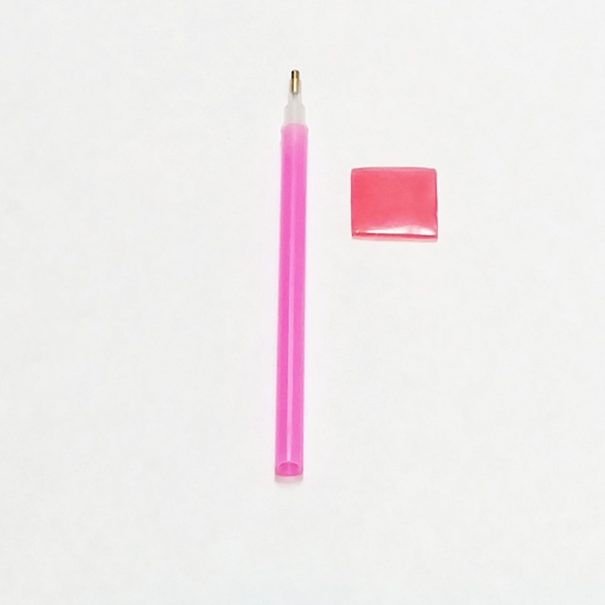 Pink Wax Picker Pencil For Swarovski and Resin Rhinestones, Gems, Nail Art Tool Similar With Katana