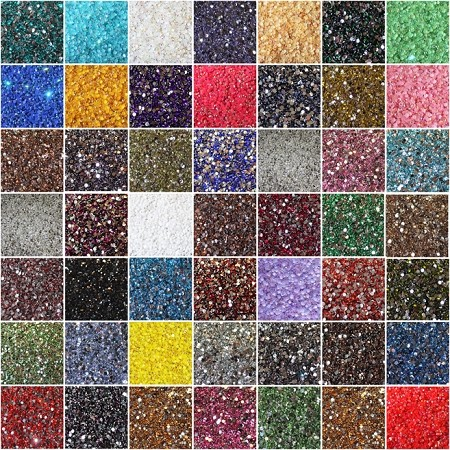 6.5mm Resin Rhinestones, 1000 Piece Lot